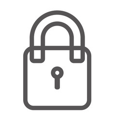 grayscale contour with padlock icon vector image