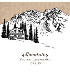 Mountain House vector image vector image