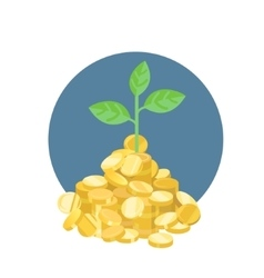 plant growth from coins vector image