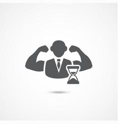 Self discipline icon vector