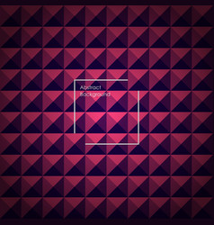 violet and pink abstract pyramid background vector image vector image