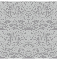 Abstract gray lace silver moire pattern vector image