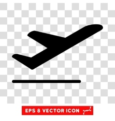 Airplane Departure Eps Icon vector