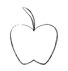 Apple fresh fruit vector