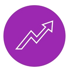 Arrow upward line icon vector