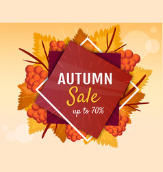 autumn sale banner or poster vector image