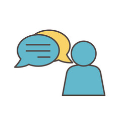 avatar speech bubble social media icon vector image