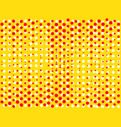 background with dots of red and yellow colors pop vector image