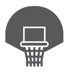 Basketball hoop glyph icon game and sport vector