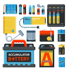 battery energy save accumulator tools vector image