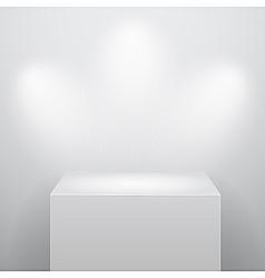 Blank podium vector
