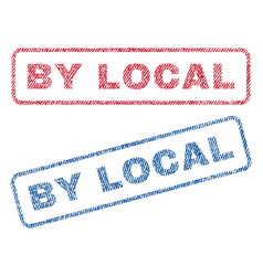 By local textile stamps vector