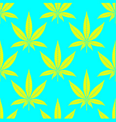 Cannabis leaves bright seamless pattern vector
