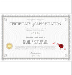 Certificate or diploma retro vintage template 04 vector
