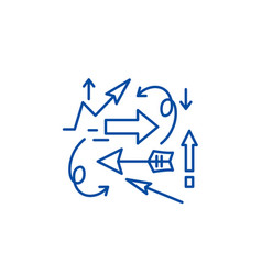 Chaos theory line icon concept chaos theory flat vector