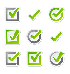 Check box icons vote mark sign choice yes vector