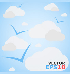 cloudy sky background cloudy sky vector image