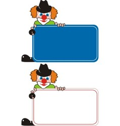 clown advertising vector image
