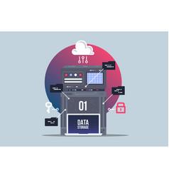 Data network management big data machine learning vector