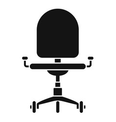 desk chair icon simple style vector image