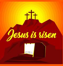 Easter jesus christ is risen vector