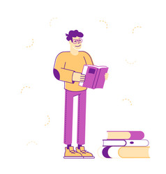 Education gaining knowledge concept young man vector