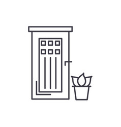 entrance door line icon concept entrance door vector image