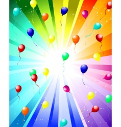 festive color rays vector image