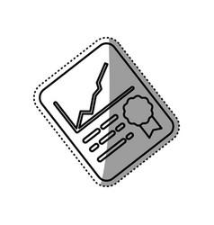 Financial report document vector