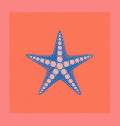 flat shading style tropical starfish vector image