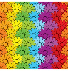flowersrainbows vector image