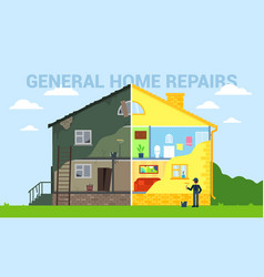 General home repairs flat style vector