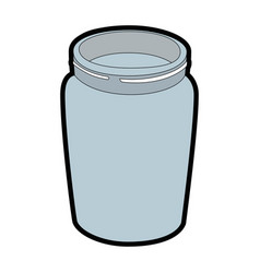 Glass bottle icon vector
