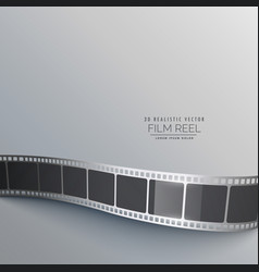 Gray background with film strip vector