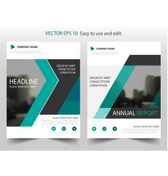 Green triangke annual report leaflet brochure vector