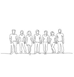 Group people holding hands together business vector
