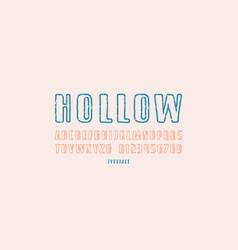 hollow sans serif font vector image