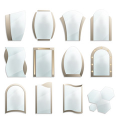 home decorative wall mirrors icon set vector image