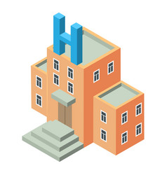 hospital icon isometric style vector image