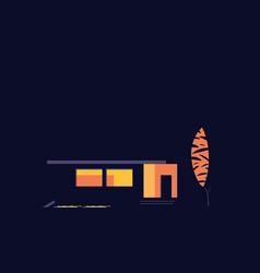 house at night abstract vector image