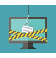 Internet Phishing hacking login and password vector image