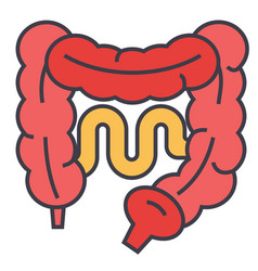 intestines concept line icon editable vector image
