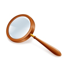 Magnifying lens vector image