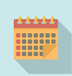 management calendar icon flat style vector image