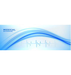Medical and healthcare background with heartbeat vector