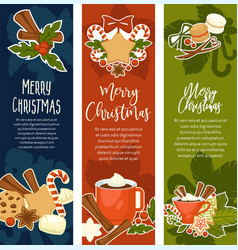 merry christmas and happy new year symbolic images vector image