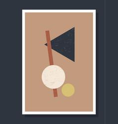 Minimalistic geometric art wall poster minimal vector