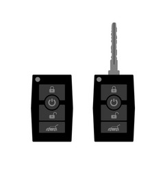 modern flat cars key key with control buttons vector image