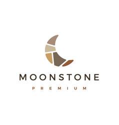 Moon stone stones logo icon vector