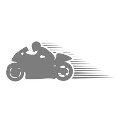Motorcyclist on sport motorcycle - racing vector